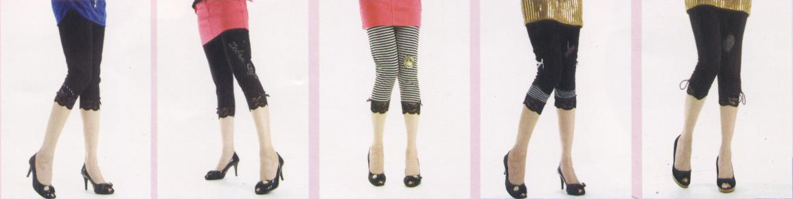footless tights with laces and striped footless tights