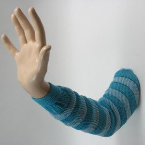 turquoise sky blue long arm sleeve